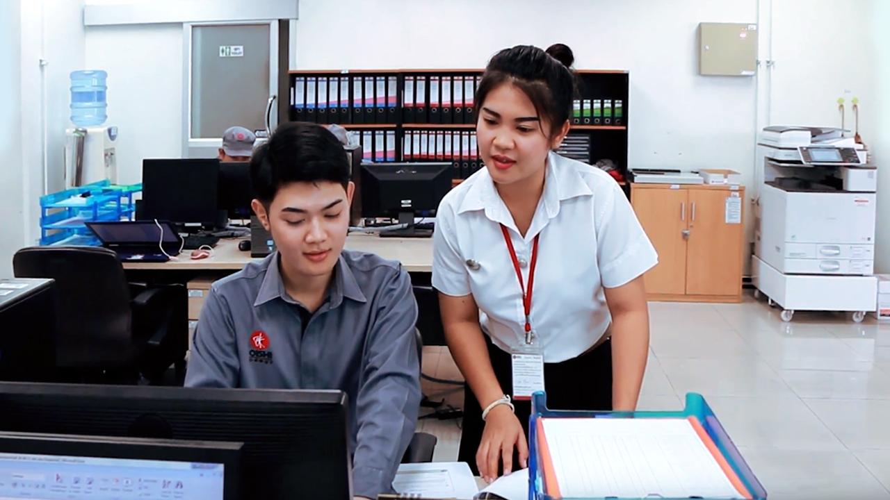 Review การปฏิบัติงานสหกิจศึกษา ที่บริษัท โออิชิ เทรดดิ้ง จำกัด  วิทยาลัยโลจิสติกส์และซัพพลายเชน มหาวิทยาลัยศรีปทุม03